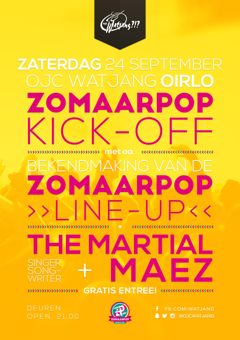Zomaarpop Kick-Off